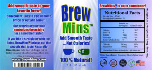 Add Brew Mins to neutralize the acidity in your coffee and tea for a better taste, Naturally